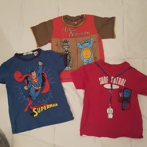 2/$20 3 x 3T top tee superman mix tees